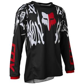 FOX RACING 2022 YOUTH 180 PERIL JERSEY BLACK/RED