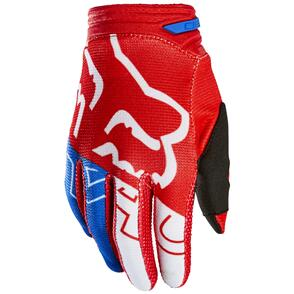 FOX RACING 2022 YOUTH 180 SKEW GLOVE WHITE/RED/BLUE