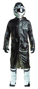 THOR TRENCH COAT THOR MX EXCEL RAIN BLACK ONE  FITS MOST
