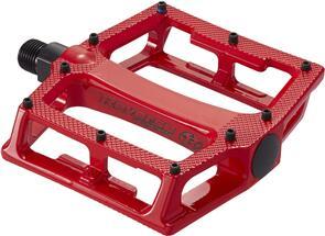REVERSE COMPONENTS PEDAL SET SUPER SHAPE 3D REVERSE COMPONENTS RED