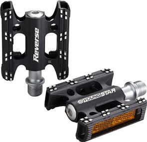 REVERSE COMPONENTS PEDAL SET YOUNGSTAR REVERSE BLACK