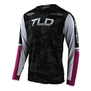 TROY LEE DESIGNS 2022 GP AIR JERSEY VELOCE CAMO BLACK / GLO GREEN