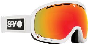 SPY OPTIC MARSHALL - MATTE WHITE HD PLUS BRONZE W/ RED SPECTRA MIRROR + HD