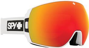 SPY OPTIC LEGACY 21 - MATTE WHITE HD PLUS BRONZE W/ RED SPRECTRA MIRROR + HD PLUS LL YELLOW W/ GREEN SPRECTRA MIRROR