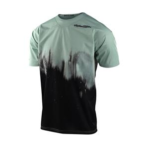 TROY LEE DESIGNS 2021 SKYLINE SS JERSEY DIFFUZE SMOKE GREEN / BLACK