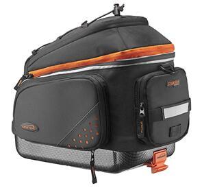 IBERA PAKRAK COMMUTER EXPANDABLE BAG/PAN BLK QUICK CLIP
