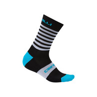 CASTELLI SOCK GREGGE 15 BLACK/SKY BLUE