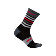 CASTELLI SOCK GREGGE 15 BLACK/RED
