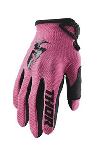 THOR 2022 WOMENS SECTOR GLOVES PINK