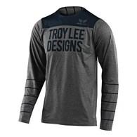 TROY LEE DESIGNS 2020 SKYLINE LS JERSEY PINSTRIPE HEATHER GRAY / NAVY