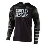 TROY LEE DESIGNS 2020 SKYLINE LS JERSEY PINSTRIPE CAMO GREEN / BLACK