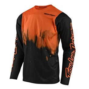 TROY LEE DESIGNS 2021 SKYLINE LS JERSEY DIFFUZE TANGELO / BLACK
