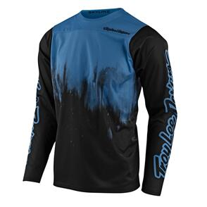 TROY LEE DESIGNS 2021 SKYLINE LS JERSEY DIFFUZE BLUE BIRD / BLACK