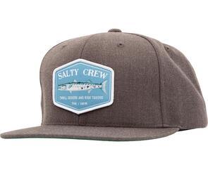 SALTY CREW SLIME STICK 6 PANEL DARK HEATHER GREY