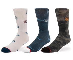 SALTY CREW CRUISER SOCKS 3 PACK ASSORTED