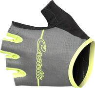 CASTELLI GLOVE DOLCISSIMA WOMENS SHORT FINGER FOREST GRAY/FLURO YELLOW