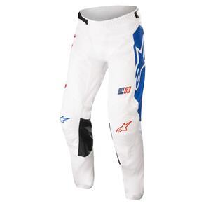 ALPINESTARS 2022 RACER COMPASS PANTS OFF WHITE/RED FLUORO/BLUE FLUORO