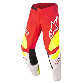 ALPINESTARS 2022 YOUTH RACER FACTORY PANTS RED FLUORO/WHITE/YELLOW FLUORO