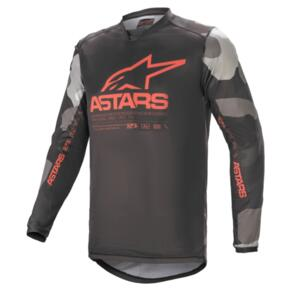ALPINESTARS 2021 RACER TACTICAL JERSEY GRAY CAMO/RED FLUORO