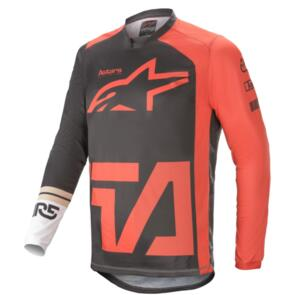 ALPINESTARS 2021 RACER COMPASS JERSEY ANTHRACITE/RED FLUORO/WHITE