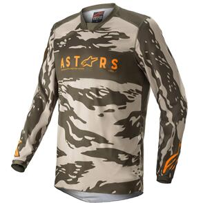 ALPINESTARS 2022 YOUTH RACER TACTICAL JERSEY MILITARY SAND CAMO/TANGERINE