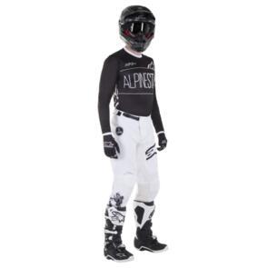 ALPINESTARS YOUTH RACER DIALED 21 JERSEY + PANTS BLACK/WHITE