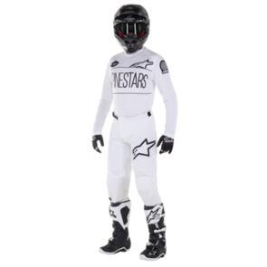 ALPINESTARS YOUTH RACER DIALED 21 JERSEY + PANTS WHITE/BLACK