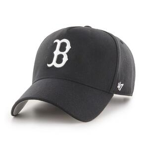 47 BRAND BOSTON RED SOX BLACK/WHITE '47 MVP DT SNAPBACK