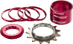 REVERSE COMPONENTS SINGLE SPEED KIT 13T RED
