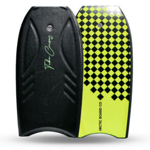 "HECTIC BOARD CO 2021 TUBE CRUISER BODYBOARD 38"""" BLACK CHARTREUSE"