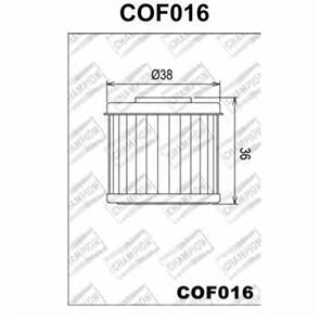 CHAMPION OIL FILTER HON CRF 450 HF116