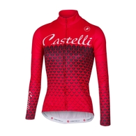 CASTELLI JERSEY CIAO L/S WOMENS RED/BLACK