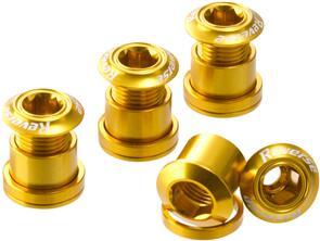 REVERSE COMPONENTS CHAINRING BOLT SET REVERSE COMPONENTS GOLD