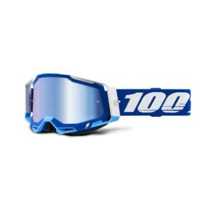 100% RACECRAFT 2 GOGGLE BLUE - MIRROR BLUE LENS
