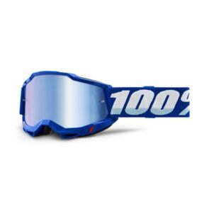 100% ACCURI MOTO GOGGLE BLUE - MIRROR BLUE LENS
