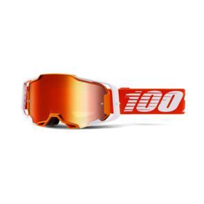100% ARMEGA MOTO GOGGLE REGAL - MIRROR RED LENS