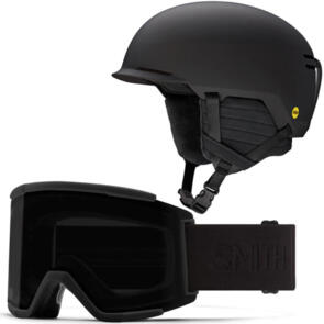 SMITH 2022 SCOUT MIPS HELMET + ASIA FIT BLACKOUT COMBO