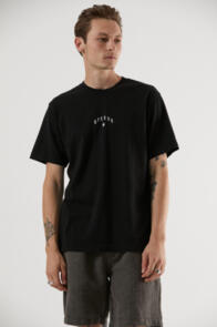 AFENDS FICTION RETRO FIT TEE BLACK