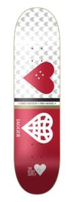 """THE HEART SUPPLY JAGGER EATON SOCIETY DECK RED  8.25"""""""""""