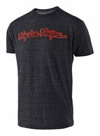 TROY LEE DESIGNS SIGNATURE TEE ONYX/RED