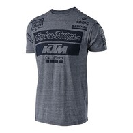 TROY LEE DESIGNS TLD KTM TEAM TEE VTG GRAY SNOW