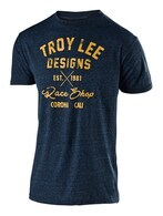 TROY LEE DESIGNS VINTAGE RACE SHOP TEE MIDNIGHT BLUE