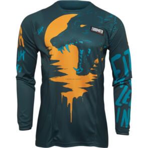THOR 2022 JERSEY PULSE YOUTH COUNTING SHEEP TEAL/TANGERINE