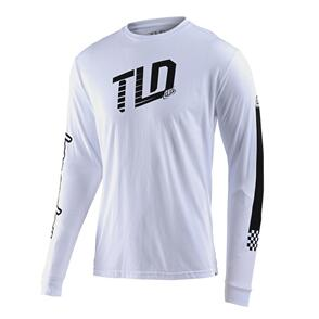 TROY LEE DESIGNS TRACKSIDE L/S TEE WHITE
