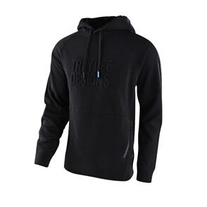 TROY LEE DESIGNS BLACKOUT EMBOSSED PO HOODIE BLACK