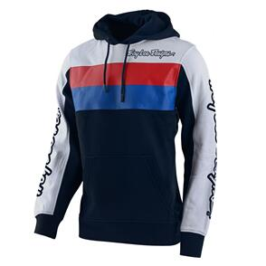TROY LEE DESIGNS BLOCK SIGNATURE PO HOODIE NAVY / WHITE