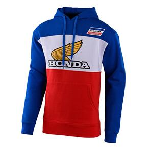 TROY LEE DESIGNS TLD HONDA RETRO WING PULLOVER HOODIE BLUE / WHITE / RED