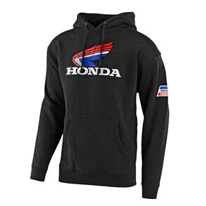 TROY LEE DESIGNS TLD HONDA RETRO VICTORY WING PULLOVER HOODIE CHAR HTR