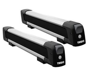 THULE 7324 SNOWPACK CARRIER 4 PR SKIS / 2 BOARDS SILVER