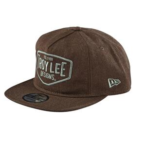TROY LEE DESIGNS MOTOR OIL SNAPBACK HEATHER BROWN
